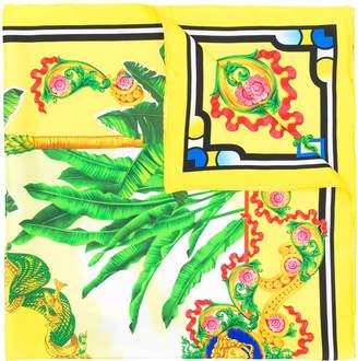 Versace Beverly Palm print foulard