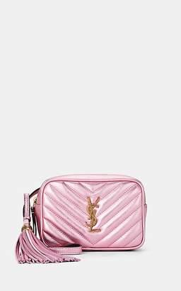 Saint Laurent Women's Lou Monogram Metallic Leather Belt Bag - Pink