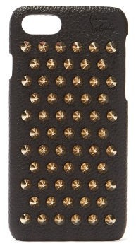 Christian Louboutin Loubiphone Leather Iphone 7 & 8 Case - Womens - Black Gold