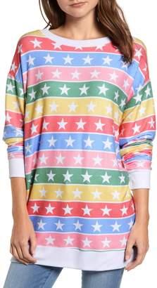 Wildfox Couture Stars Road Trip Stellar Stripe Pullover