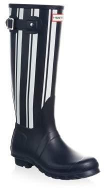 Hunter Striped Waterproof Rubber Rain Boots