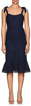 Saloni Women's Rosie Floral-Eyelet Cotton Dress