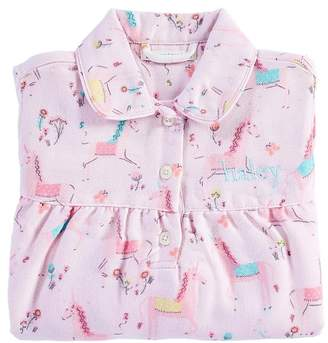 Pottery Barn Kids Magical Unicorn Flannel Nightgown, 2T
