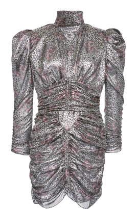 Isabel Marant Pandor Printed Silk-Lamé Mini Dress