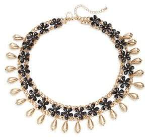 Etereo Floral Link Chain Collar Necklace