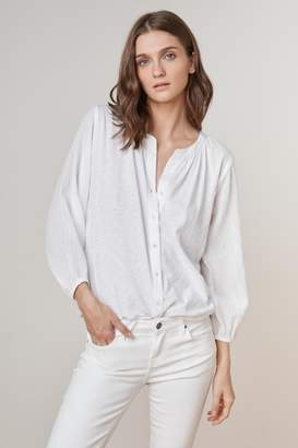 Velvet by Graham & Spencer HAYES COTTON CONTRAST BUTTON UP TEE