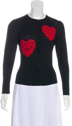 Dolce & Gabbana Wool Long Sleeve Cardigan w/ Tags