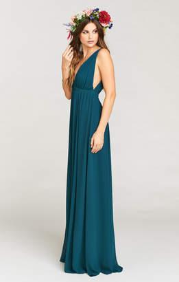 Show Me Your Mumu Ava Maxi Dress ~ Deep Jade Chiffon