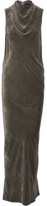 Rick Owens - Bonnie Velvet Gown - Dark gray $1,435 thestylecure.com