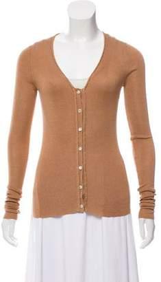Saint Laurent Silk Knit Cardigan