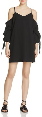 Do and Be Cold-Shoulder Ruched-Sleeve Dress $78 thestylecure.com
