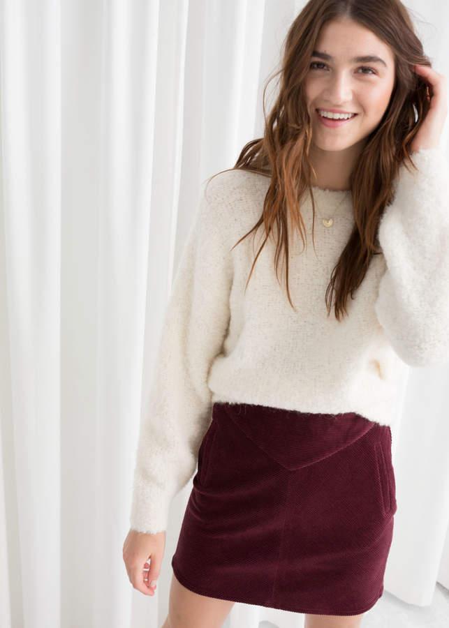 Textured Wool Blend Sweater