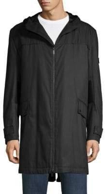 HUGO BOSS Merat Textured Hooded Jacket