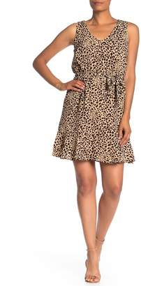 Vanity Room V-Neck Flounce Hem Dress