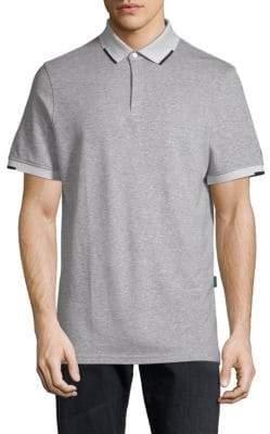 Short-Sleeve Heathered Polo