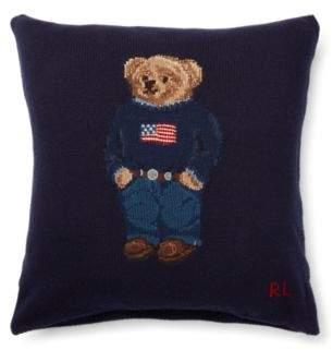 Bear Wool Throw Pillow