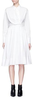 Emilio PucciEmilio Pucci Twist front cotton poplin shirt dress