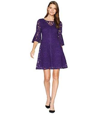 Gabby Skye Women's 3/4 Sleeve Round Neck Lace Sheath Dress