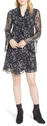 Cynthia Steffe CeCe by Floral Print Bell Sleeve Dress