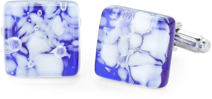 Duchamp Blue & White Glass Cuff Links