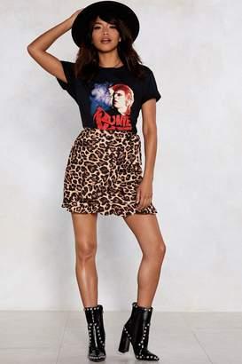 Nasty Gal Leopard Late Wrap Skirt