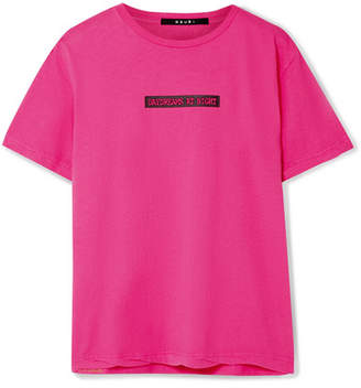 Ksubi Day Dreams Printed Cotton-jersey T-shirt - Pink