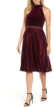 Ted Baker Cornela Pleated Velvet Dress