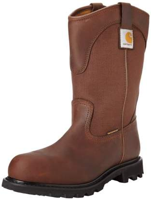 "Carhartt Men's 11"" Wellington Waterproof Steel Toe Leather Pull-On Work Boot CMP1220"