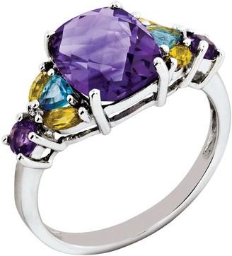 3.00ct tw Multi-gemstone Sterling Ring