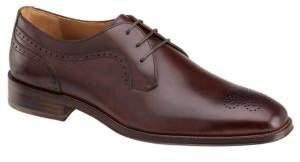 Johnston & Murphy Boydstun Plain-Toe Leather Oxfords