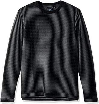 French Connection Men's Double Face Alternative Stripe Longsleeve Tee