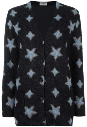 Saint Laurent star print oversized cardigan $1,845 thestylecure.com