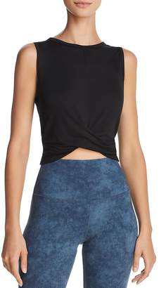 Alo Yoga Cover Twist-Front Cropped Tank