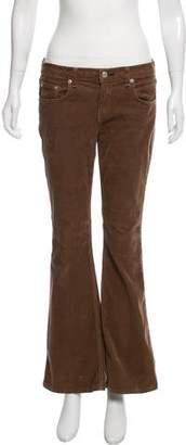 Rag & Bone Corduroy Mid-Rise Wide-Leg Pants