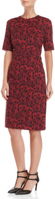 Carolina Herrera Leopard Print Sheath Dress