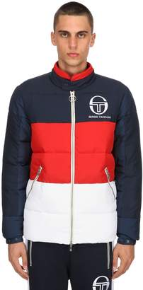 Sergio Tacchini Nylon Puffer Jacket W/ Logo Detail
