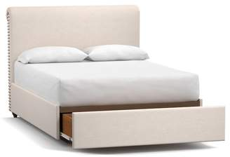 Pottery Barn Chesterfield Upholstered Footboard Storage Bed