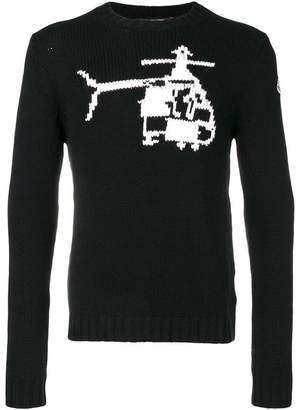 Moncler helicopter embroidered sweater