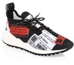 Moschino Neoprene Stamp Sneakers