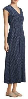 Max Mara Alarico Silk A-Line Midi Dress