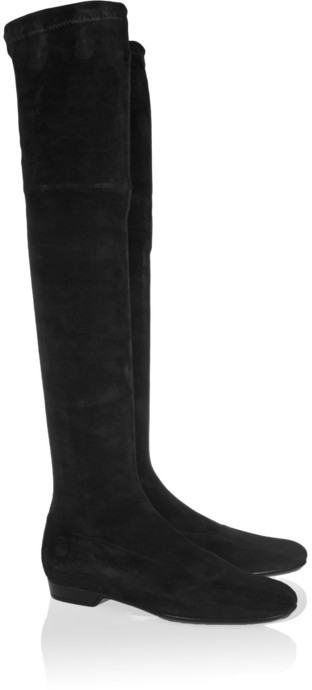 Robert Clergerie Fuji stretch-suede over-the-knee boots