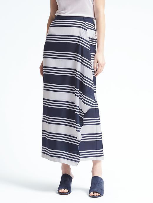 Banana Republic Stripe Cascade Maxi Skirt