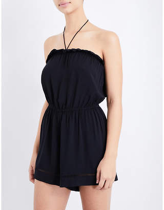 Seafolly Halterneck woven playsuit $67 thestylecure.com