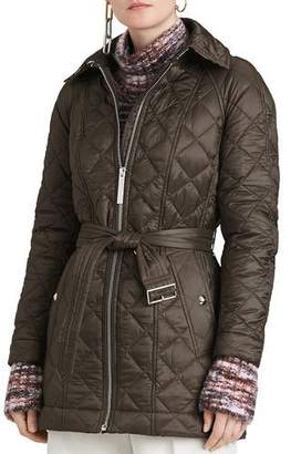 Burberry Baughton Quilted Belted Parka Jacket