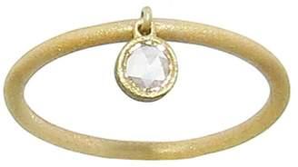 Tate Bezel Set Diamond Dangle Ring