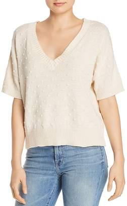 Nation Ltd. Gigi Popcorn-Stitched V-Neck Sweater
