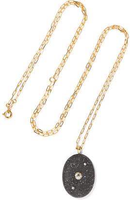 Cvc Stones Cosmic 18-karat Gold, Stone And Diamond Necklace