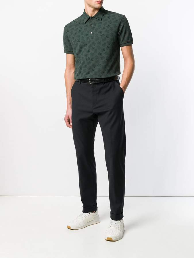 Bottega Veneta butterfly logo polo shirt