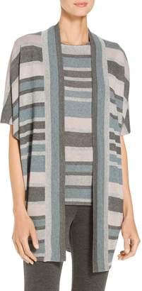 St. John Shimmer Stripe Knit Cardigan