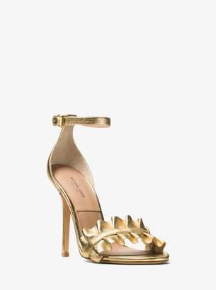 Michael Kors Priscilla Metallic Leather Sandal